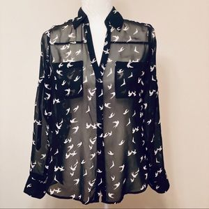 Black and White Print EXPRESS Portofino Shirt